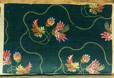 closeup picture of vintage fabric